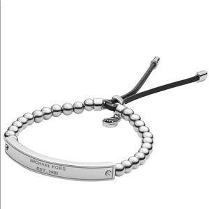 MICHAEL KORS Silver Beaded Bracelet